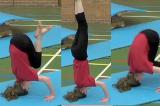 Headstand from a box shape on matKey 2 content balanceGymnastics Drills Coaching