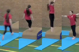 Jogging into a hurdle step on low apparatusKey 2 Body Temperature RaisingGymnastics Drills Coaching