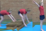 Straddle vault over low apparatusKey 2 content ApparatusGymnastics Drills Coaching