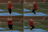 Jump to long shape with 1/2 twist to feetKey 2 Body Temperature RaisingGymnastics Drills Coaching