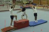 Step up Hollander vault (quarter twist)twist cart wheelGymnastics Drills Coaching