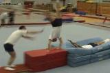 Springboard into half twist to handstand : half twist to flatbacktwist cart wheelGymnastics Drills Coaching