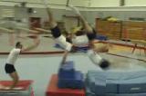 Handstand pike summersault kick out to flatbacktwist cart wheelGymnastics Drills Coaching