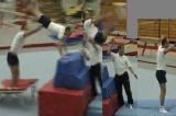 Yamashita to feet with spottingtwist cart wheelGymnastics Drills Coaching