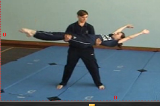 Craddle catchingKey 5 4 CatchingGymnastics Drills Coaching