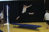 Leaping along a benchKey 1 content ApparatusGymnastics Drills Coaching