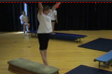 Jumping to Long Shape and landing on the apparatus/down from the apparatus Drill Thumbnail