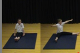 Sit to wide straddle sitKey 1 Body ConditioningGymnastics Drills Coaching