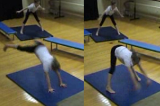 Straddle vault on floorKey 1 content ApparatusGymnastics Drills Coaching