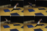 Jogging with leaping over corners and widths of mats. Drill Thumbnail