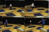 Alternate hopping along apparatus and running along the floor. Drill Thumbnail