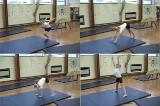 Straddle Vault progression along mat.Key 3 VaultGymnastics Drills Coaching