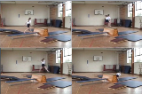 Hurdle step into wide shapeKey 3 Body Temperature RaisingGymnastics Drills Coaching