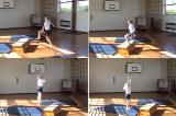 Hurdle step into half twist higher apparatusKey 3 Body Temperature RaisingGymnastics Drills Coaching