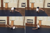 Forward Roll straddle shape along mat to straddle sit.Key 3 Forward rollGymnastics Drills Coaching