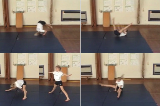 Forward Roll straddle shape along mat to straddle standKey 3 Forward rollGymnastics Drills Coaching