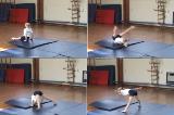 Down low incline into staddleKey 3 Backwards rollGymnastics Drills Coaching