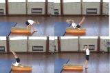 Pike counterbalance entry along benchKey 3 Backwards rollGymnastics Drills Coaching