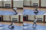Pike counterbalance entry into backward roll along mat.Key 3 Backwards rollGymnastics Drills Coaching