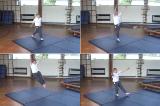 Heal click to the sideKey 3 Body Temperature RaisingGymnastics Drills Coaching