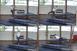 Develop Linkage of Leaping Actions along a benchKey 3 Body Temperature RaisingGymnastics Drills Coaching
