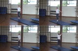 Develop Rhythmic Jumping Pattern with Twists.Key 3 Body Temperature RaisingGymnastics Drills Coaching
