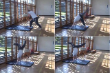 Hand stand with split leg again wall. Drill Thumbnail