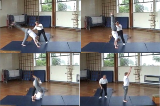 Handstand with forward roll exit with bent arms with spotter Drill Thumbnail