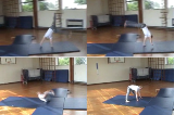 Round off along mat with snap down into backwards roll. Drill Thumbnail