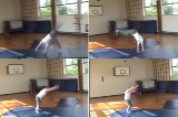 Round off along mat with snap down to make it long.Key 3 Round offGymnastics Drills Coaching