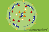 Circle BallConditioned gamesRounders Drills Coaching