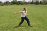 under arm throw (side view) | Skills