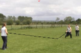 gathering the bounce ball relayThrowing & CatchingRounders Drills Coaching