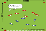 Quick Ball/ Offload TouchTag RugbyRugby Drills Coaching