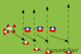 4 vs 3 team shapes/backs moves attacking drillBacks MovesRugby Drills Coaching