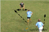2 vs 1 - with running supportOff LoadsRugby Drills Coaching