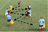 Fending Off - Strong HandsOff LoadsRugby Drills Coaching
