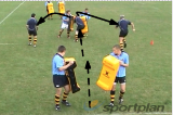 Smash through and Pass!Off LoadsRugby Drills Coaching