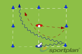 Attacking footwork and tacklingSchoolRugby Drills Coaching