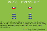 Ruck - PRESS UP - PART 2SevensRugby Drills Coaching
