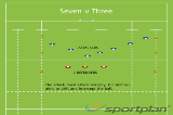 Seven v ThreeSevensRugby Drills Coaching