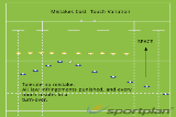 Mistakes Cost – Touch VariationWarm UpRugby Drills Coaching