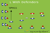 L With Defenders Drill Thumbnail