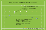 Snap, Crackle, and POP - Touch VariationWarm UpRugby Drills Coaching