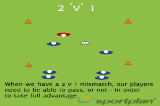 2 v 1PassingRugby Drills Coaching