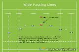 Wide Passing LinesSevensRugby Drills Coaching
