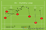 D1 - Dummy LoopBacks MovesRugby Drills Coaching