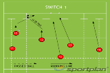 SWITCH 1Backs MovesRugby Drills Coaching