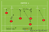 ENTER 2Backs MovesRugby Drills Coaching
