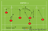ENTER 3Backs MovesRugby Drills Coaching